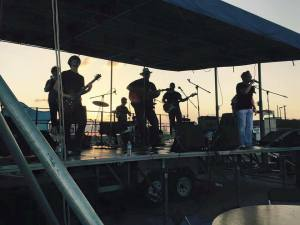 I am not sure how to brighten up this picture. On Fri. night there were several bands that performed for the crowd! This was one of them, it was the group TooFarNorth with Little Man Slay! Photo credit: Camp Craig Allen