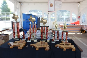 The trophies! Photo credit: Martin Camacho