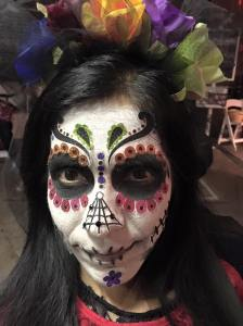 Michelle Sanchez as the day of the dead!! I wonder how long it took? I remember her telling me that it itched like crazy.