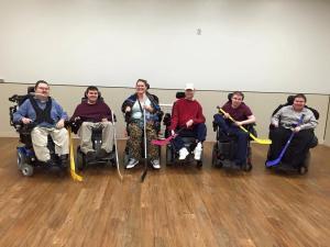 wheelchair hockey practice