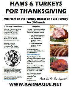 HAMS and TURKEYS for Thanksgiving 2015 v2