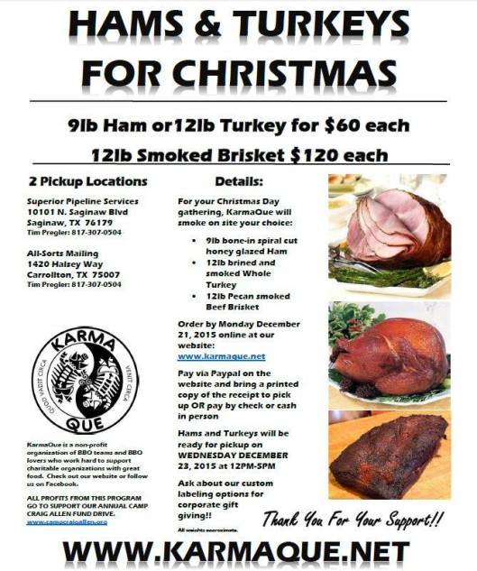 2015 hands and turkeys for Christmas