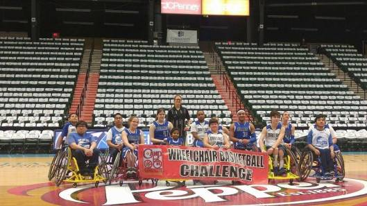 wheelchair basketball and sound