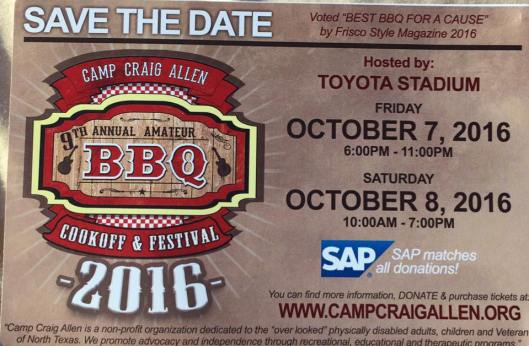 2016 save the date BBQ
